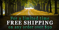 FREE Shipping on any order over $50 - Visit the Tree Store